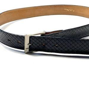 Countess Mara Mens 36 Black 100% Snakeskin Belt